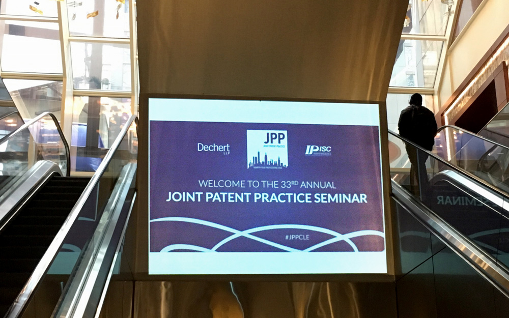 Joseph V. Noferi was a guest speaker at the Joint Patent Practice Continuing Legal Education – 33rd Annual Seminar on April 27, 2017